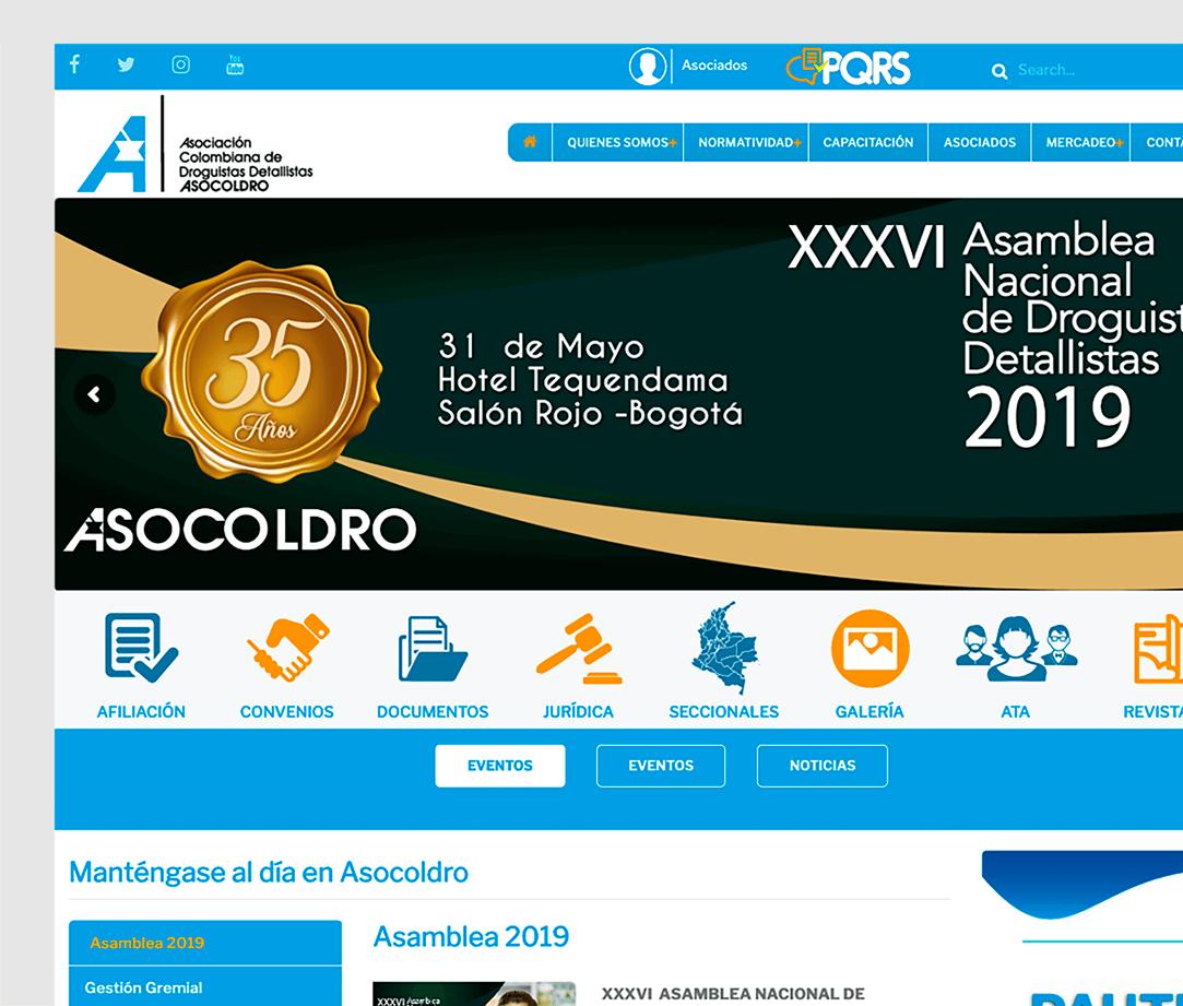Asocoldro, web corporativa enfocada a su público objetivo.