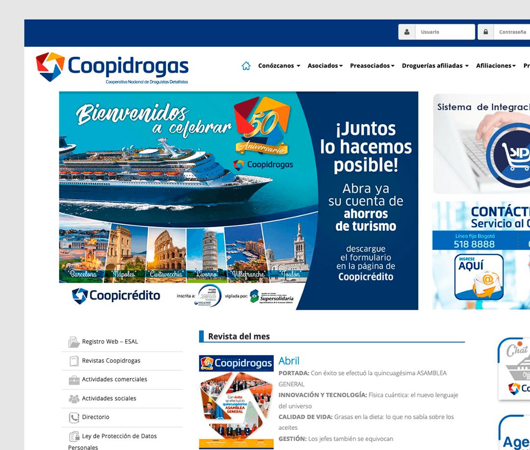 Coopidrogas, experiencias ágiles para cada uno de sus usuarios.